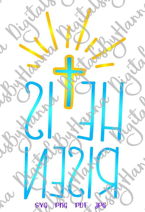 he is risen religious christian jesus visual arts mirror reversed