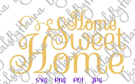 home sweet home art vector clipart housewarming svg gift
