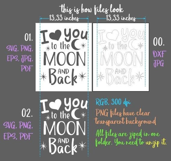honeymoon svg file for cricut saying i love you lettering print silhouette cut