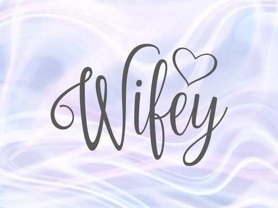 Wifey SVG Honeymoon Hubby tShirt Just Married Couple Matching Newlywed New Wife