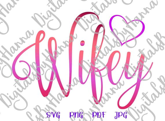 honeymoon svg hubby wifey couple matching sign
