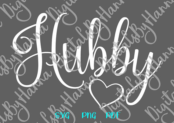 hubby svg just married couple matching sign newlywed husband funny word print