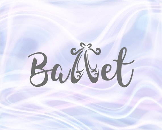 Ballet Dance SVG Files for Cricut Slippers Dancer Sign Word Recital Outfit Gift