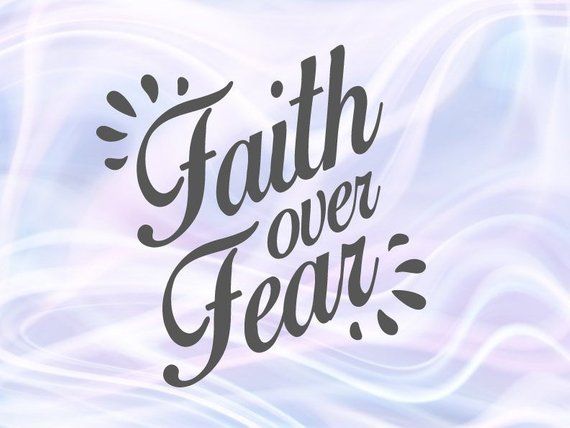 Inspirational SVG Files for Cricut Faith Over Fear Christian Religious Scripture