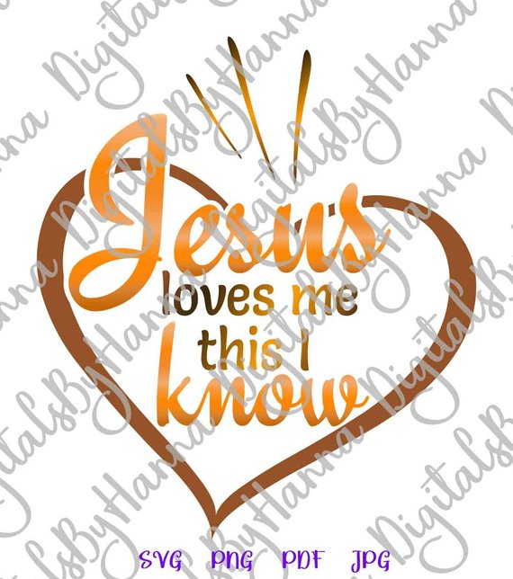 jesus loves me christian quote hand lettering word sign print