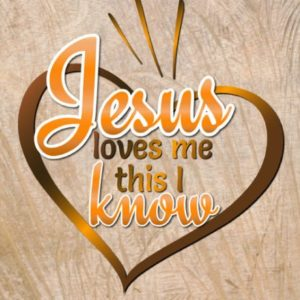 Jesus Loves me This I Know Religious Svg Heart Clipart Christian Quote Word Sign