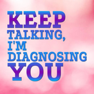 keep talking i m diagnosing you med student vector clipart