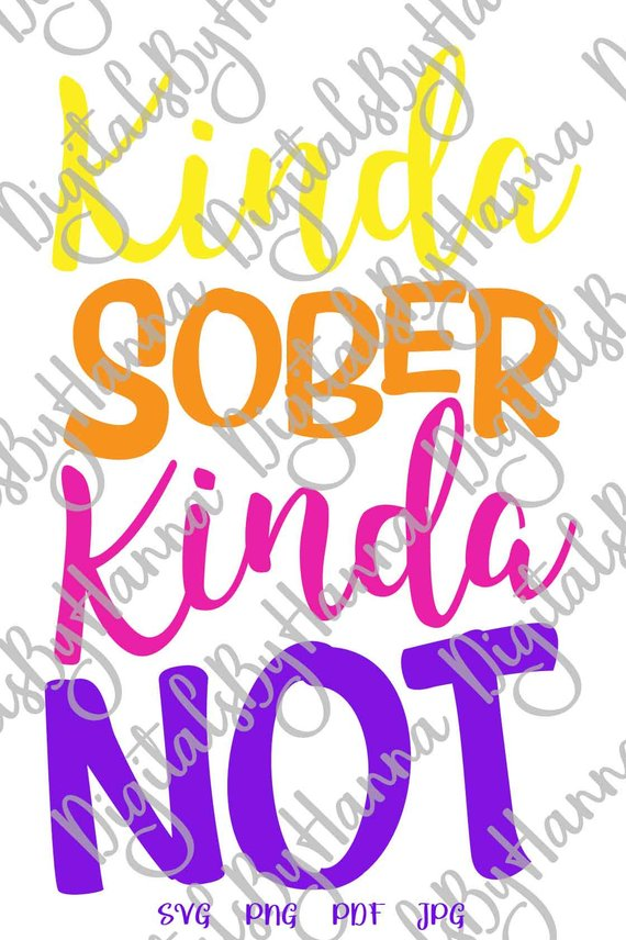 kinda sober kinda not alcohol iron on transfers collage sheets