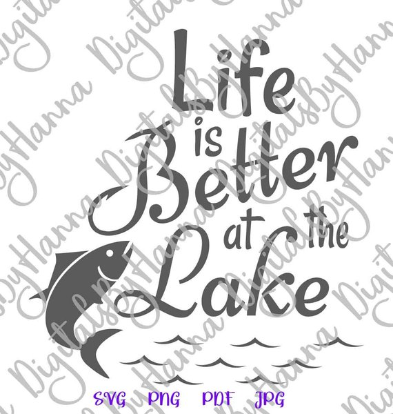 life is better at the lake camping clipart cuttable shirt decal heat cutting
