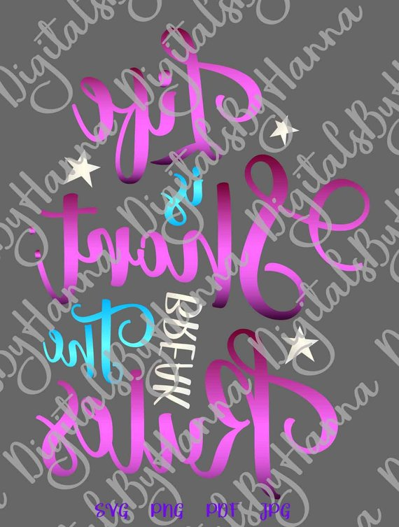 life is short break the rules sign mirrored print silhouette cut use
