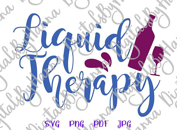 liquid therapy lover wine glass mug vector clipart