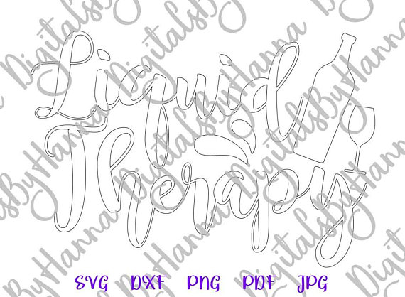 liquid therapy silhouette dxf digital clipart gift
