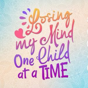 losing my mind one child at a time vector clipart