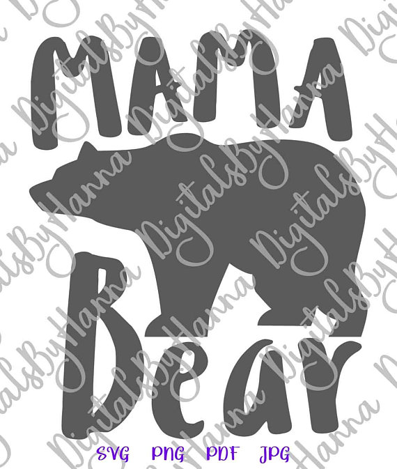 mama bear momlife svg new mother tshitr tee sign word print