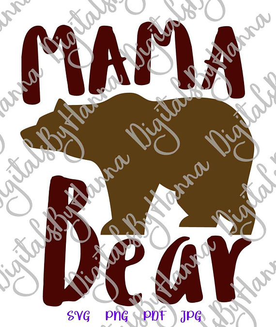mama bear svg files for cricut saying sign word print