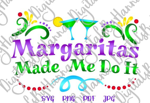 margaritas fiesta svg files for cricut bahelorette glass word print sign