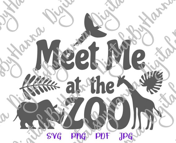meet me at the zoo svg funny quote sign word vector clipart
