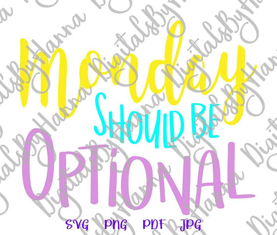 monday should be optional coworker tee iron on transfers