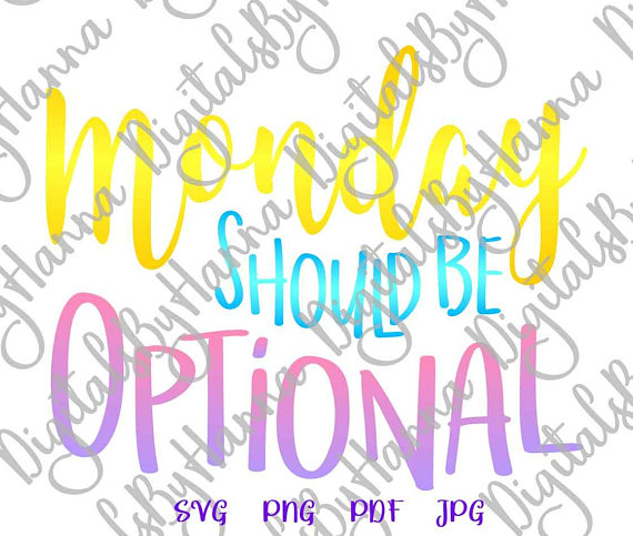 monday should be optional mug coffee cup vector clipart