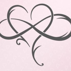 Mother and Daughter The Love Between SVG Infinity Symbol Heart Emblem Print Cut