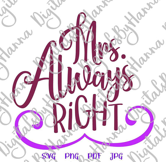 mrs always right vector just married new wife