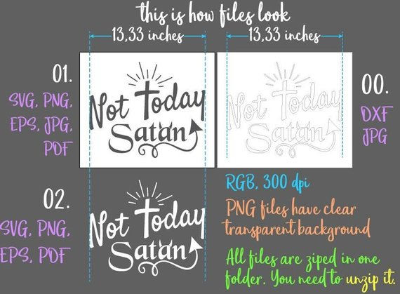 not today satan inspirational svg files for cricut cross print silhouette cut