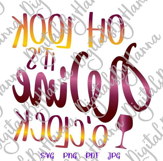 oh look it s wine o clock arts mirror reversed stencil maker