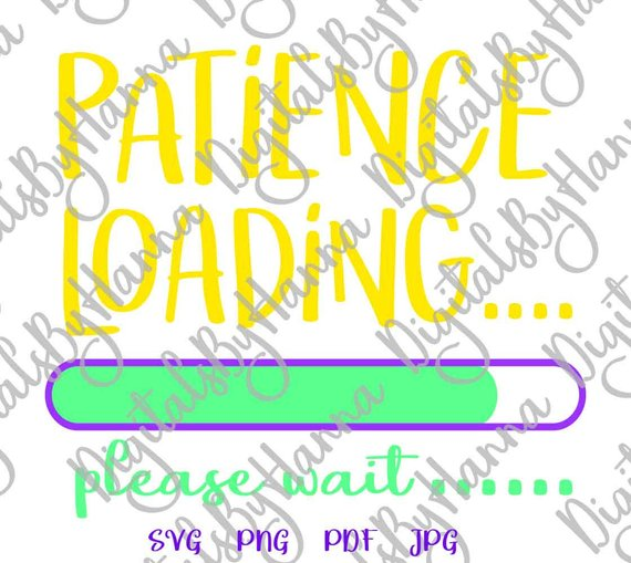 patience loading please wait iron on transfers collage sheets