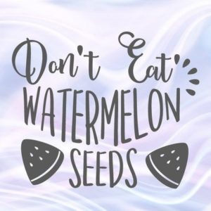 Pregnant SVG Files for Cricut Saying Don't Eat Watermelon Seeds SVG Funny Quote