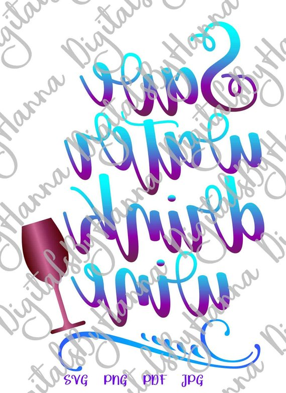 save water drink wine svg alcohol lover