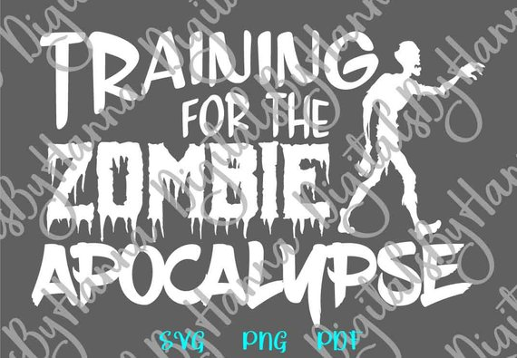 workout svg files for cricut crossfit saying training for the zombie apocalypse