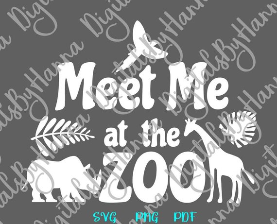 zoo animal saying meet me at the zoo svg funny quote print laser cut