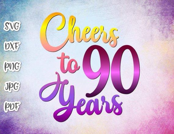90th Birthday Saying Cheers To 90 Years Invitation