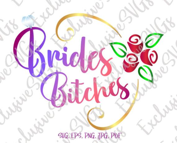 bachelorette svg bride swearing alternative word print wedding