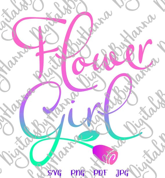 bachelorette svg files for cricut saying flower girl sign word print wedding lettering