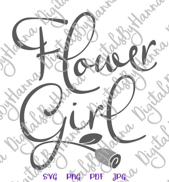 bachelorette svg files for cricut saying flower girl sign word print wedding