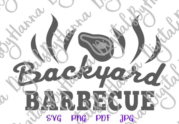 backyard barbecue svg grill master apron sign lettering word print