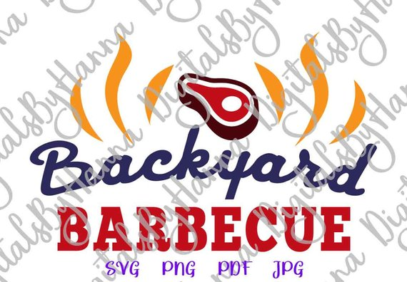 bbq svg barbeque grilling gift print vector clipart
