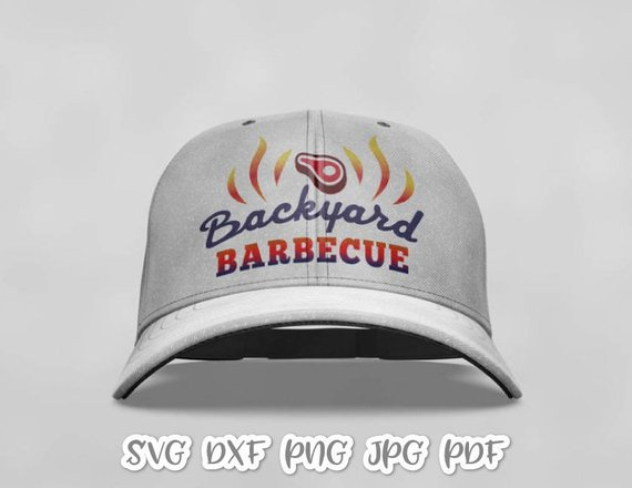 bbq svg file for cricut saying backyard barbecue sign
