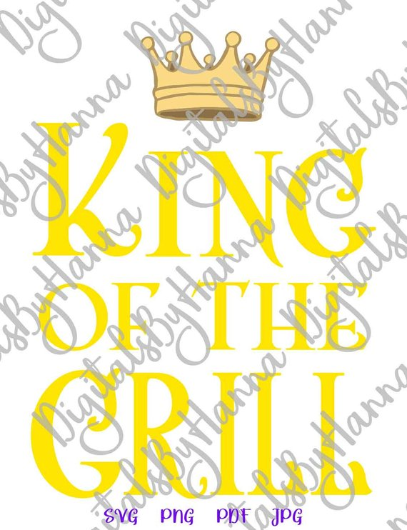 bbq svg file for cricut saying king of the grill svg funny master apron print