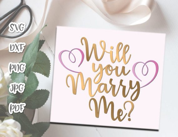 Engagement Will You Marry Me Marriage Proposal Hand Lettering Wedding Calligraphy