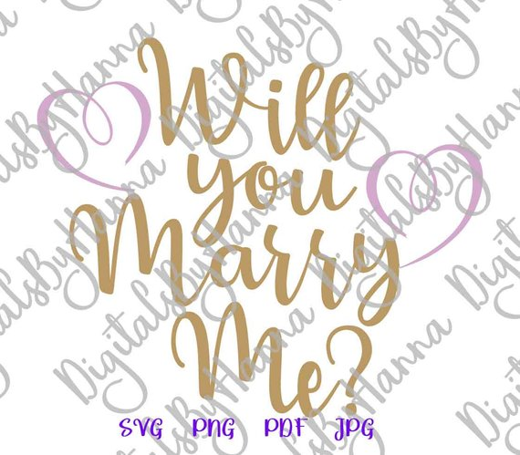 engagement svg saying will you marry me svg wedding print cut