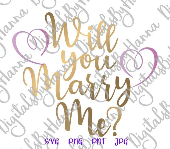 engagement svg will you marry me hand lettering wedding calligraphy