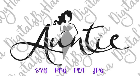 family svg saying auntie svg my favorite aunt tshirt sign word print silhouette