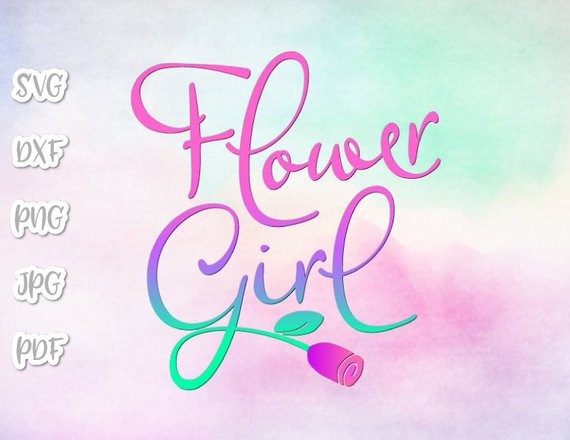 Bachelorette SVG Files for Cricut Saying Flower Girl SVG Proposal Team Bride Tribe