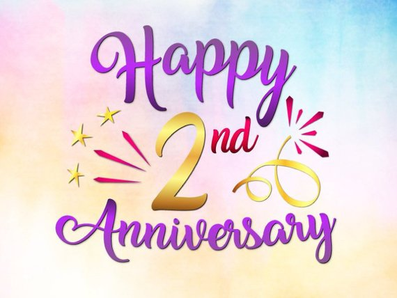 Happy 2nd Anniversary SVG Files for Cricut Second Year Letter Greeting Invitation