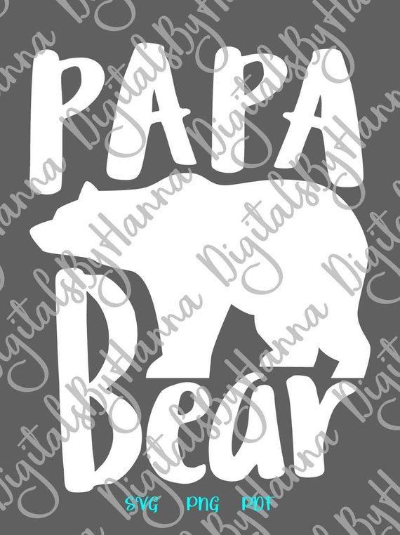 papa bear family svg files for cricut saying word print