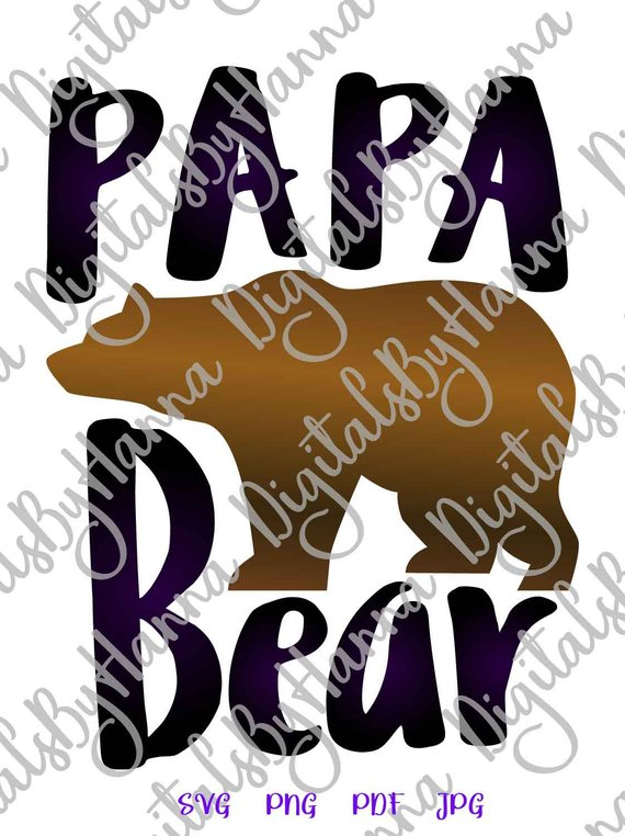 papa bear svg dad daddy tee tshirt sign lettering word