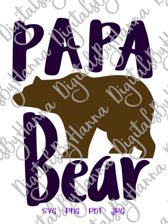 papa bear svg dad new father daddy tee tshirt sign lettering