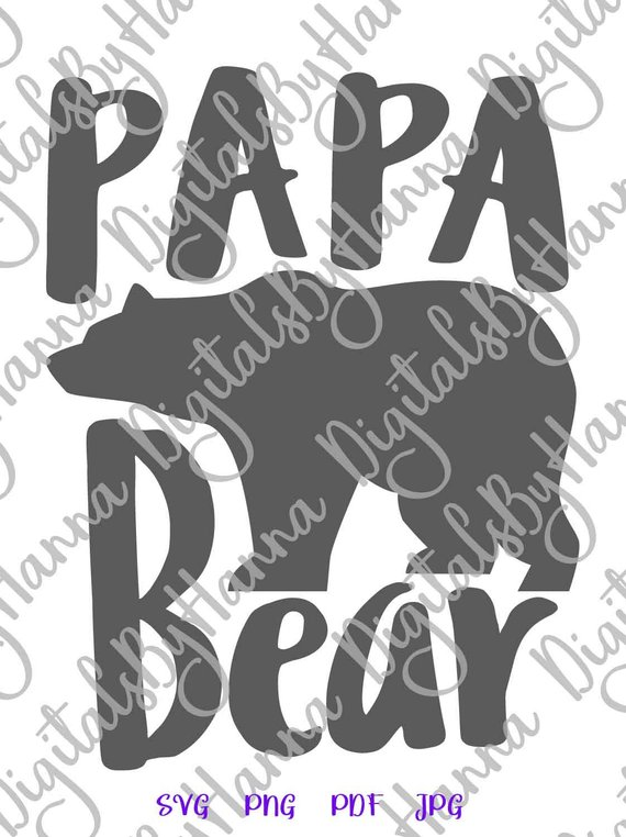 papa bear svg dad new father daddy tee tshirt vector clipart